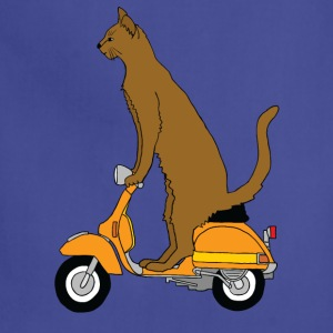 cat on motor scooter T-Shirts - Adjustable Apron