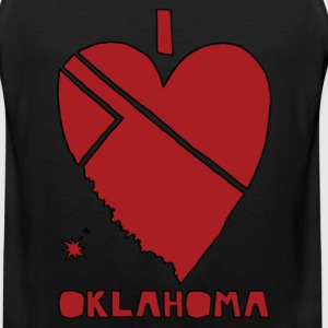 i heart Oklahoma (red) T-Shirts - Men's Premium Tank