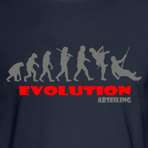 Abseiling ape of Evolution - Men's Long Sleeve T-Shirt