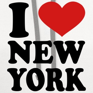 I Love New York Women's T-Shirts - Contrast Hoodie