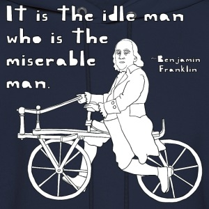 ben franklin cycling quote T-Shirts - Men's Hoodie