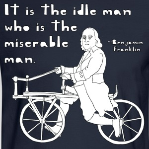 ben franklin cycling quote T-Shirts - Men's Long Sleeve T-Shirt