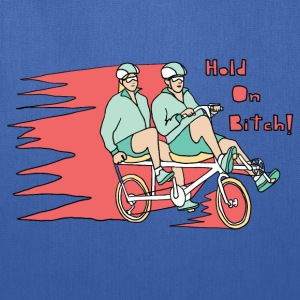 recumbent bike hold on bitch T-Shirts - Tote Bag