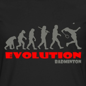 Badminton ape of Evolution - Men's Premium Long Sleeve T-Shirt