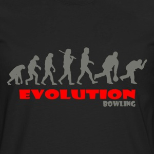 Bowling ape of Evolution - Men's Premium Long Sleeve T-Shirt