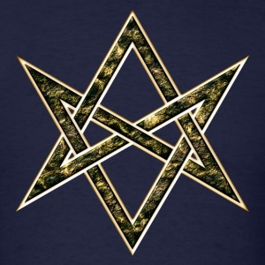 Unicursal Hexagram, Magic, Mystic, Occult, Symbol Hoodies - Men's T-Shirt