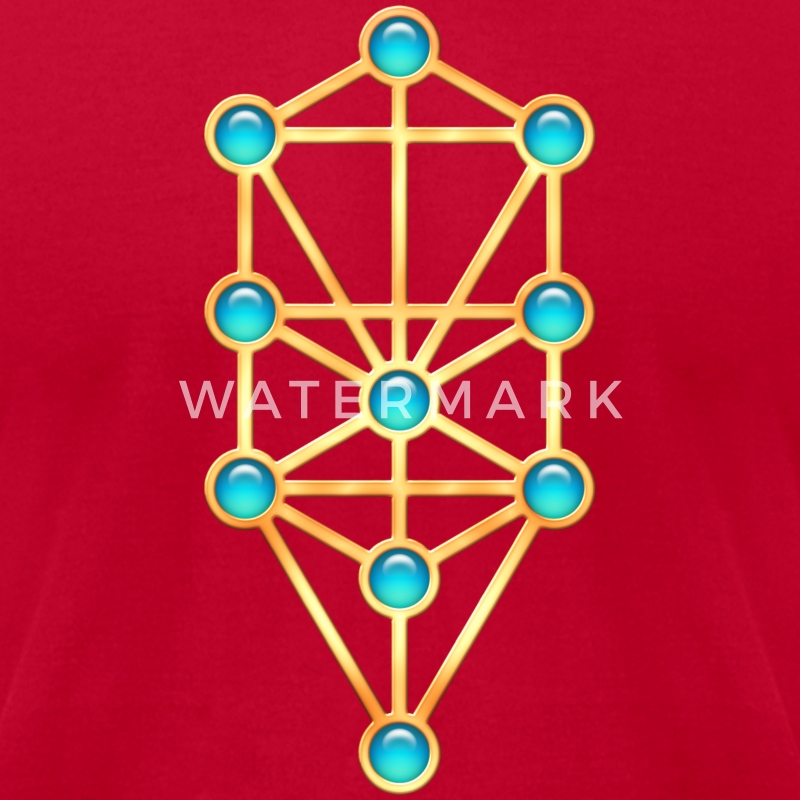 Tree of Life, Kabbalah, Sephiroth T-Shirts - Men's T-Shirt by American Apparel