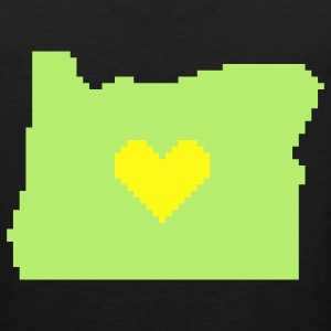 Oregon Pixel Heart Yellow on Green - Men's Premium Tank