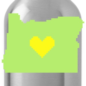 Oregon Pixel Heart - Water Bottle