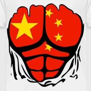 China Flag Ripped Shirt Kids' Shirts - Toddler Premium T-Shirt