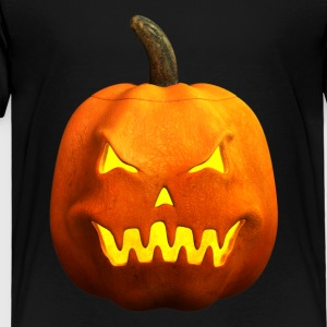 Halloween Pumpkin Face - Angry, Evil, Scary - Toddler Premium T-Shirt
