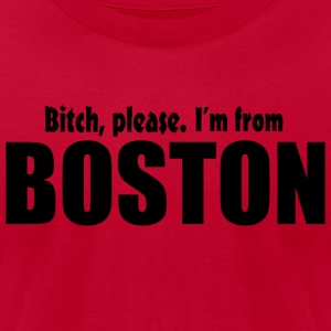 Bitch Please From Boston Pride Funny Shirt TShirts Hoodies - Men's T-Shirt by American Apparel