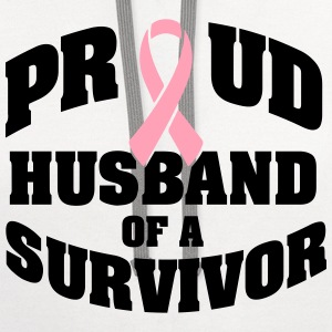 Proud husband of a survivor T-Shirts - Contrast Hoodie
