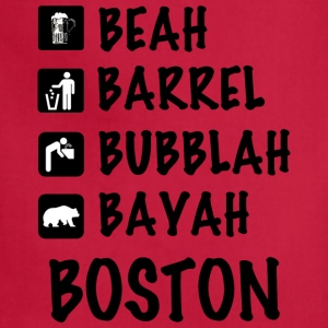 Funny Cute Boston Accent Dialect T-Shirt Shirts T T-Shirts - Adjustable Apron