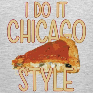 Funny Parody Chicago Style Deep Dish Pizza Shirt T Women's T-Shirts - Men's Premium Tank