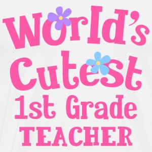 1st Grade Teacher Cute Hoodies - Men's Premium T-Shirt