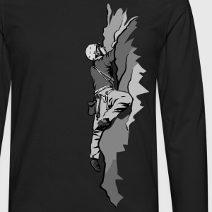 Rock Climber Scaling - Men's Premium Long Sleeve T-Shirt