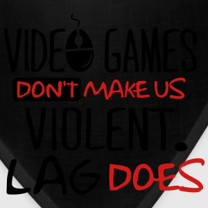 Video games don't make us violent. Lag does. Kids' Shirts - Bandana