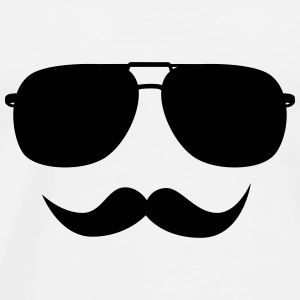 Mustache face Other - Men's Premium T-Shirt