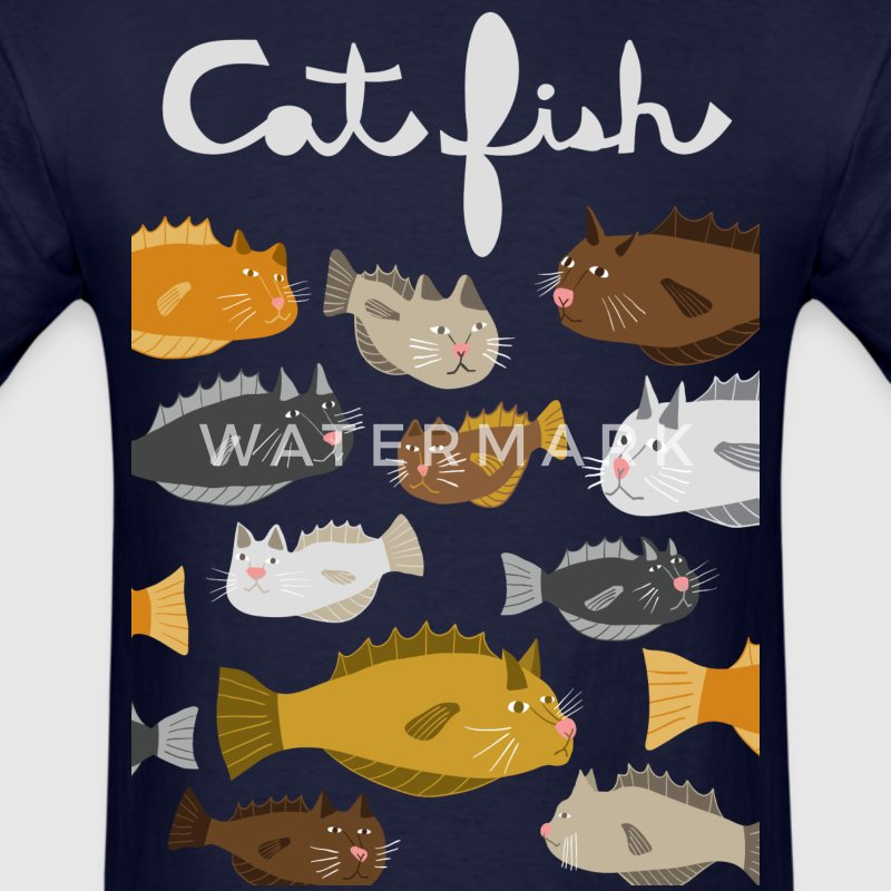 cat fish T-Shirts - Men's T-Shirt