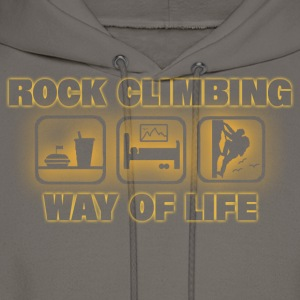 Rock Climbing Way Of Life - Men's Hoodie