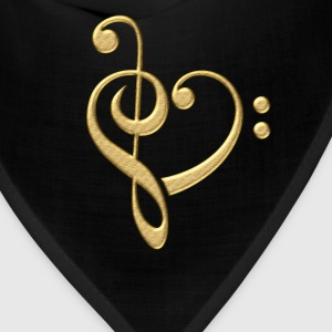 Music Note Heart, Bass, Treble, Clef, Sheet, Dance T-Shirts - Bandana