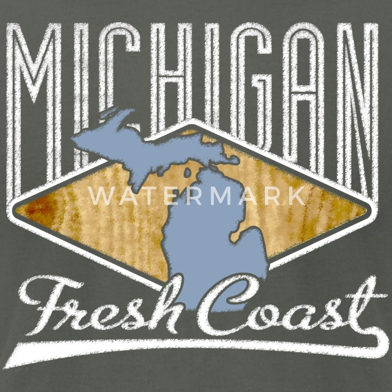 Michigan Fresh Coast Great Lakes Apparel T-Shirt T T-Shirts - Men's T-Shirt by American Apparel