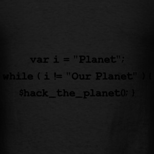 Hackers: Hack The Planet (Front) Bags & backpacks - Men's T-Shirt