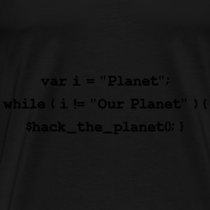 Hackers: Hack The Planet (Front) Bags & backpacks - Men's Premium T-Shirt