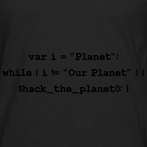 Hackers: Hack The Planet (Front) Bags & backpacks - Men's Premium Long Sleeve T-Shirt