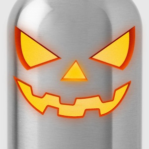 Scary Halloween Horror Pumpkin Face Men - Water Bottle