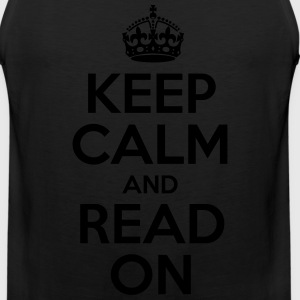 Keep Calm and Read On - Men's Premium Tank