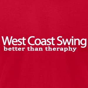 West Coast Swing Better Than Therapy - Men's T-Shirt by American Apparel