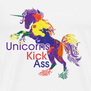 Unicorns Kick Ass - Men's Premium T-Shirt