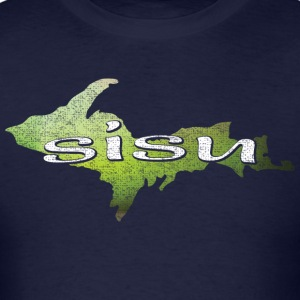 U.P. SISU Upper Peninsula Michigan Finland Finnish Long Sleeve Shirts - Men's T-Shirt