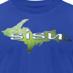 U.P. SISU Upper Peninsula Michigan Finland Finnish Hoodies - Men's T-Shirt by American Apparel