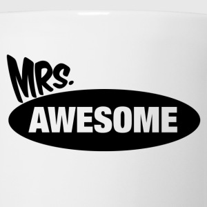 Mr. Awesome & Mrs. Awesome Couples Design Women's T-Shirts - Coffee/Tea Mug