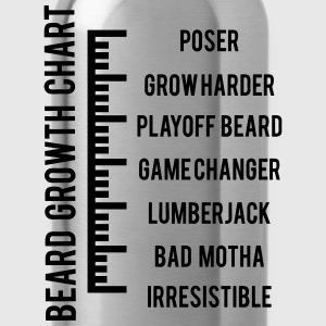 Beard Growth Chart T-Shirts - Water Bottle