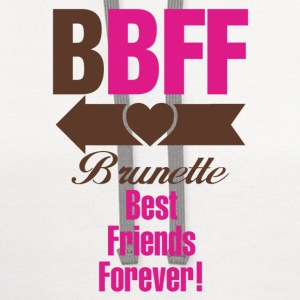 Blonde & Brunette Best Friends Forever Couples Women's T-Shirts - Contrast Hoodie