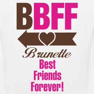 Blonde & Brunette Best Friends Forever Couples Women's T-Shirts - Men's Premium Tank