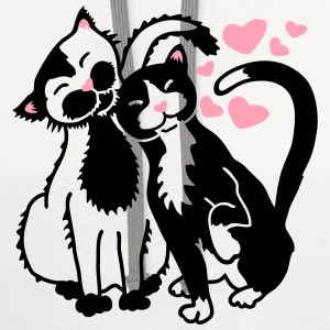 Cats - Purrfect Love T-Shirts - Contrast Hoodie