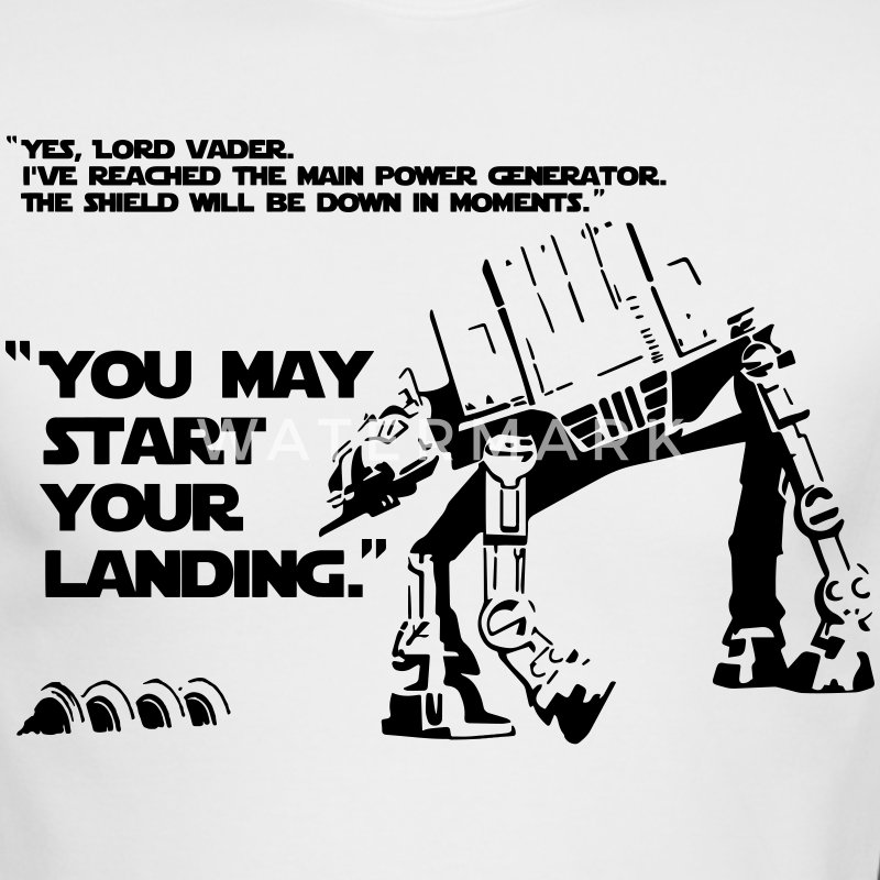 Star Wars quote AT-AT Walker on Hoth - Men's Long Sleeve T-Shirt by Next Level