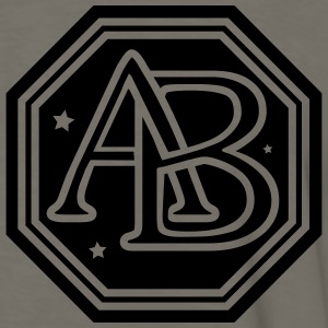 AB monogram initial letters T-Shirts - Men's Premium Long Sleeve T-Shirt