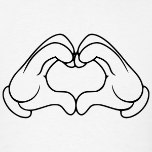 Heart shaped hands - Men's T-Shirt