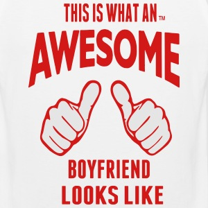THIS IS WHAT AN AWESOME BOYFRIEND LOOKS LIKE - Men's Premium Tank