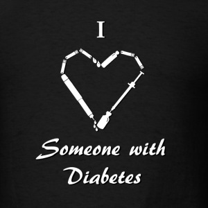 I Love Someone With Diabetes - Needle - White Long Sleeve Shirts - Men's T-Shirt