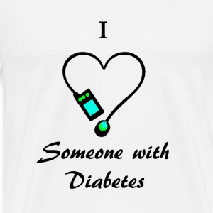 I Love Someone With Diabetes - A - B/G Long Sleeve Shirts - Men's Premium T-Shirt