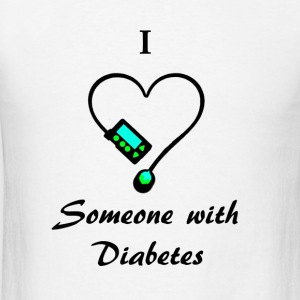 I Love Someone With Diabetes - M - B/G Long Sleeve Shirts - Men's T-Shirt