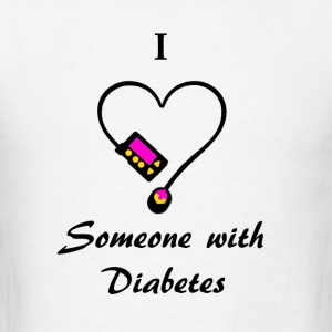 I Love Someone With Diabetes - M - P/O Hoodies - Men's T-Shirt