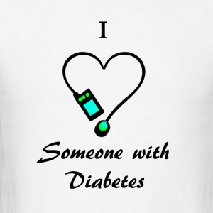 I Love Someone With Diabetes - A - B/G Hoodies - Men's T-Shirt